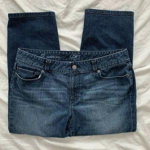 Women's Ann Taylor Loft Modern Crop Jeans 12